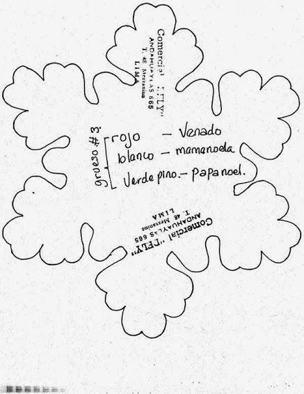 HOLA ATODAS... COPOS DE NIEVE DE LA WEB C/ MOLDES