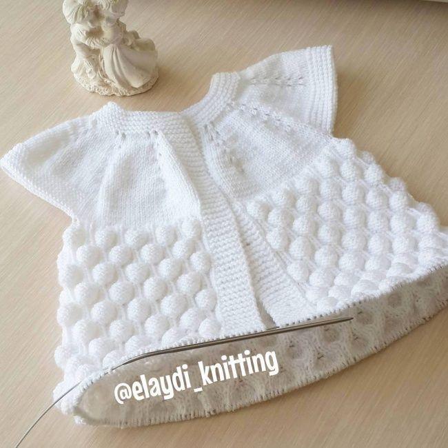 Ahududu örgü modeli ile bebek yeleği yapılışı  – Bebek Örgüleri / Baby Crochet