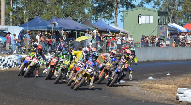 Going for the holeshot