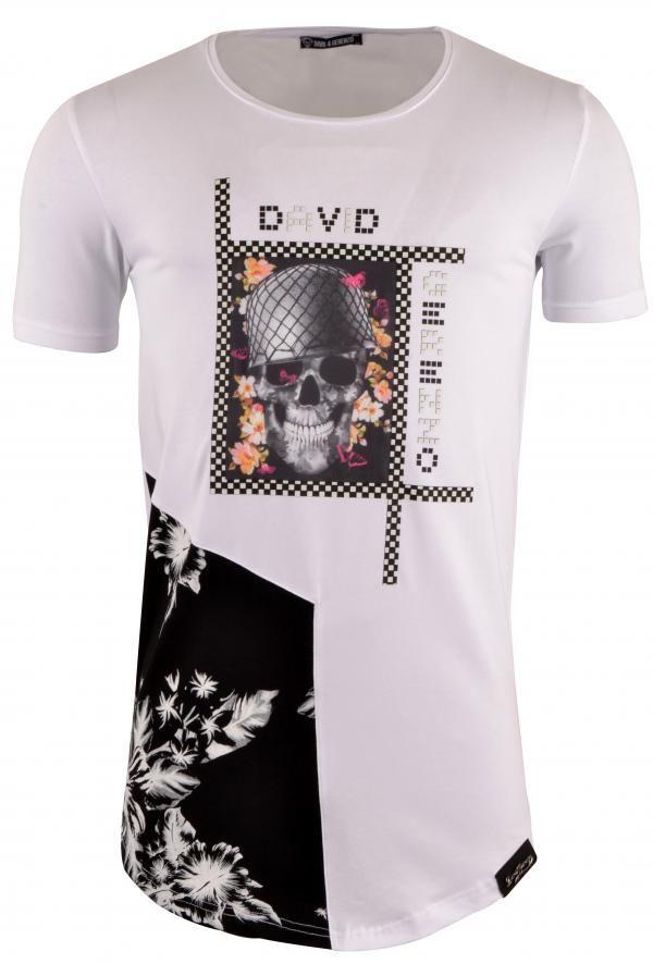 David & Gerenzo Blomsco T-Shirt Wit