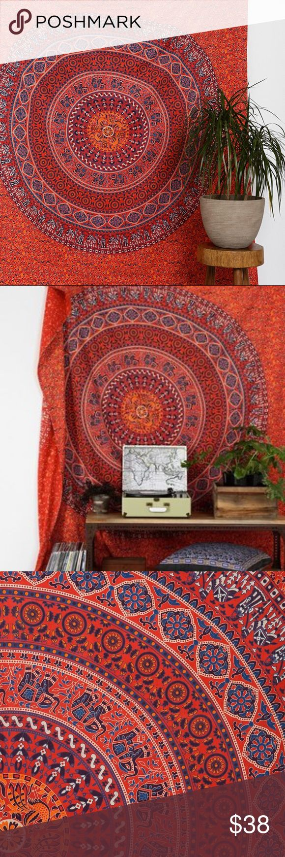 Magical Thinking Red Medallion Tapestry Urban Outfitters Magical Thinking Red Medallion Tapestry. Like new. Was used in college to hang on a wall. Needs a new home. Urban Outfitters Accessories