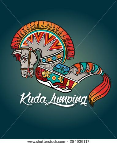 leathered horse (kuda lumping) is one of the traditional art form Java province, a rocking horse made ??up of bamboo matting made and decorated to resemble the form of a horse