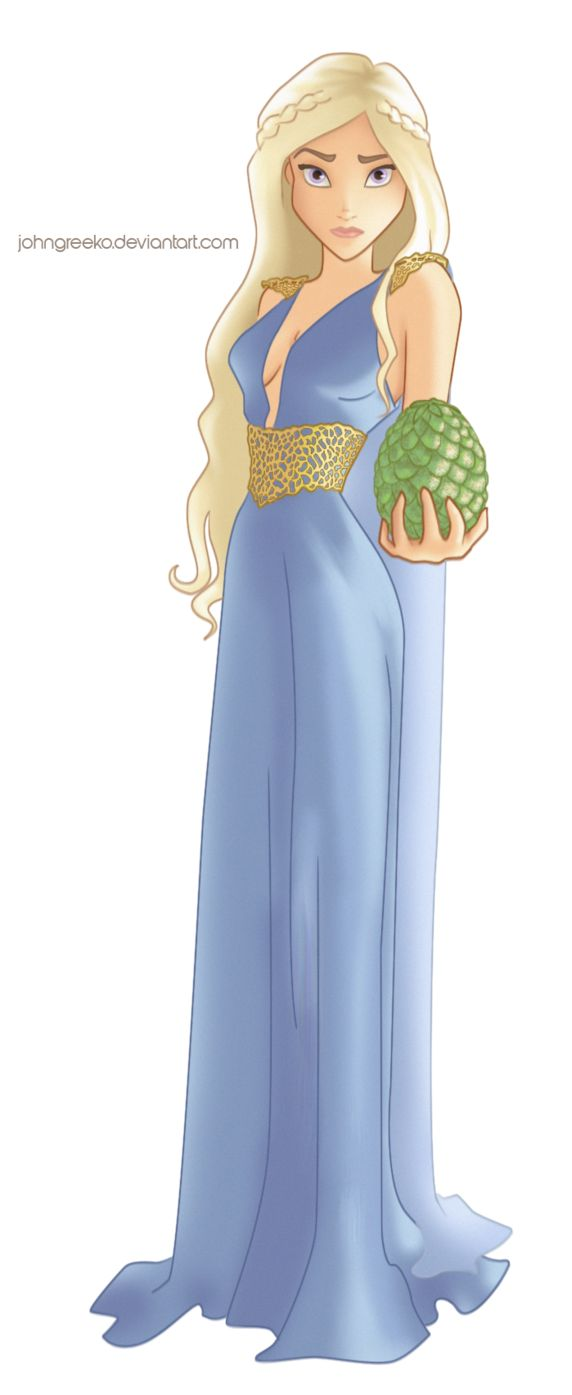 DISNEYFIED: Daenerys Targaryen by johngreeko