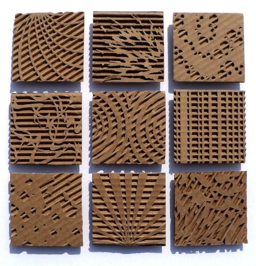 This was my favorite project. Cardboard Relief.