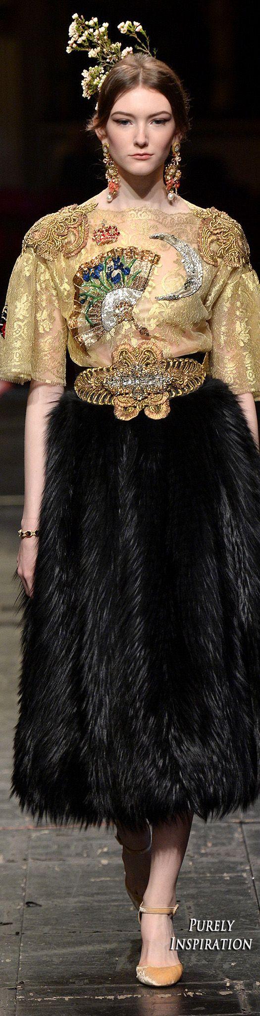 Dolce & Gabbana 2016 Alta Moda Collection | Purely Inspiration