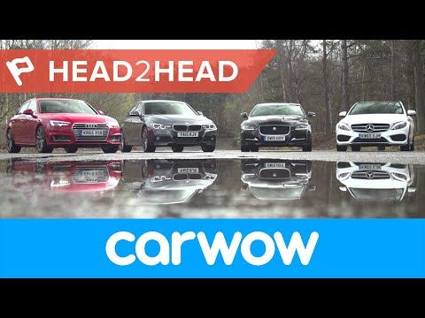 Audi A4 vs Mercedes C-Class vs BMW 3 Series vs Jaguar XE Saloons 2017 review | Head2Head  Video  Description Watch our compact executive car group test of the Audi A4, Mercedes C-Class, BMW3- Series and Jaguar XE. Mat Watson finds out which is best in this versus video review. Subscribe to...