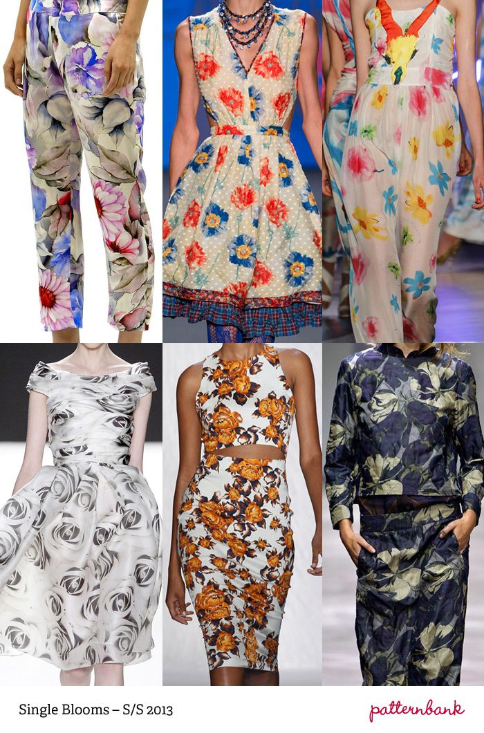 S/S 2013 Print Trends - Single Blooms