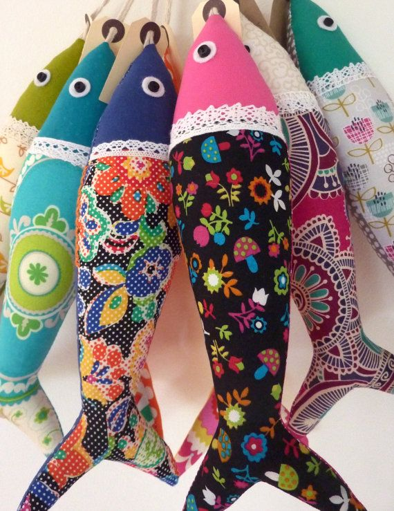 Handmade traditional Portuguese sardines in fun, contemporary fabrics. Individually sewn, each one is unique - once the carefully chosen fabric is