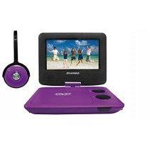 $39.00 - Sylvania SDVD7043-PURPBLK 7-Inch Portable DVD Player with Matching Oversize Headphones, Purple