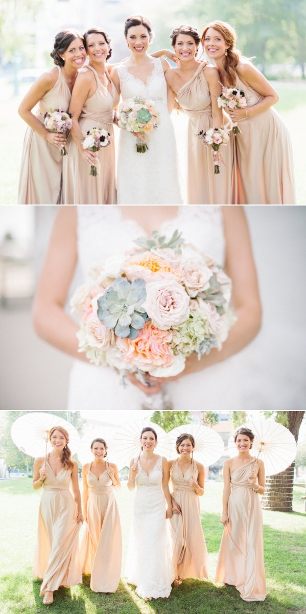 love the allure 8634 dress the bouquets and the bridesmaids dresses