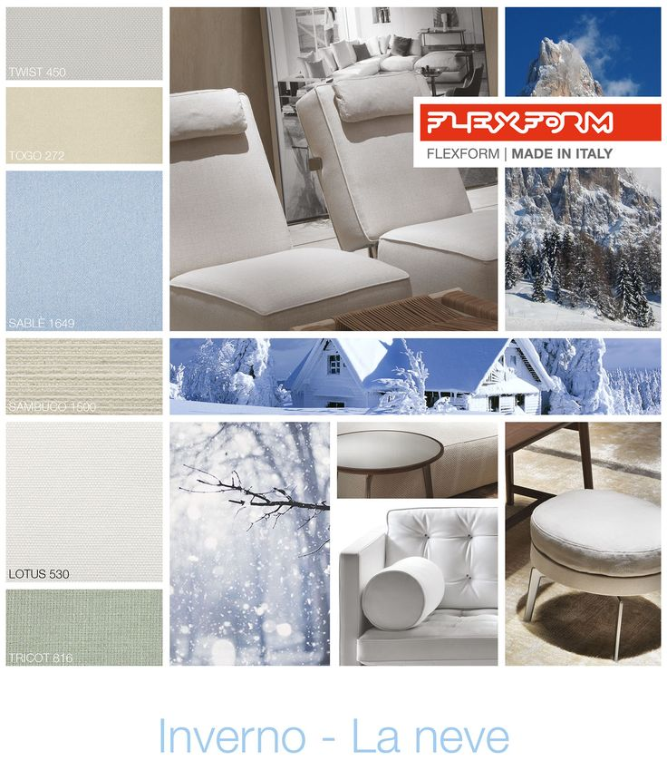 FLEXFORM | WINTER - SNOW #INSPIRATION #colour #materials