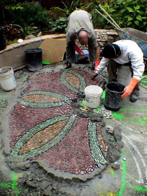 How To Make Stone Walkway | Stone Art Blog: Jeffrey Bale's Mosaic Pilgrimage, a labour of love, a ...
