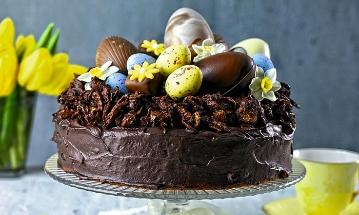 Easter treats: Chocolate Easter cake with cornflake nest http://dailym.ai/OOm9zk #DailyMail