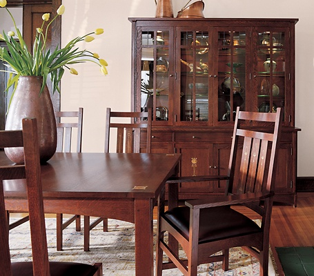 Harvey Ellis Inlaid Dining Furniture