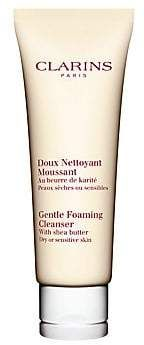Clarins Women's Gentle Foaming Cleanser with Shea Butter For Dry or Sensitive Skin