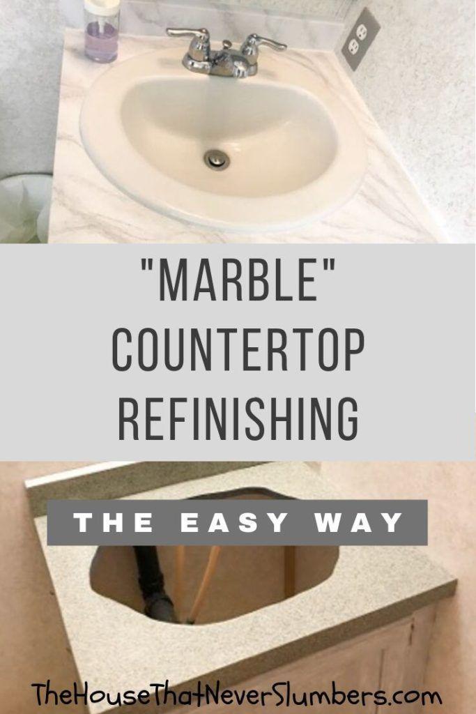 Easy Marble Countertop Refinishing With Giani Refinish