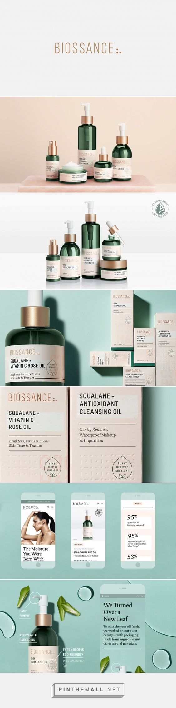 (54) Biossance on Behance - created via https://pinthemall.net?utm_content=buffer880ca&utm_medium=social&utm_source=pinterest.com&utm_campaign=buffer | Packaging | Pinterest / Packaging / Design / Branding / Inspiraton / Ideas / Beauty / Cosmetics / Make-up Remover / Natural / Organic / Rose Gold / Copper / Modern / Feminine