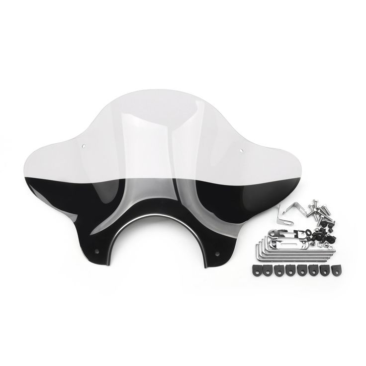 Mad Hornets - Universal Motor Windshield Windscreen Mounting Kit Wind Deflector Cruiser, ClearB, $59.99 (http://www.madhornets.com/universal-motor-windshield-windscreen-mounting-kit-wind-deflector-cruiser-clearb/)