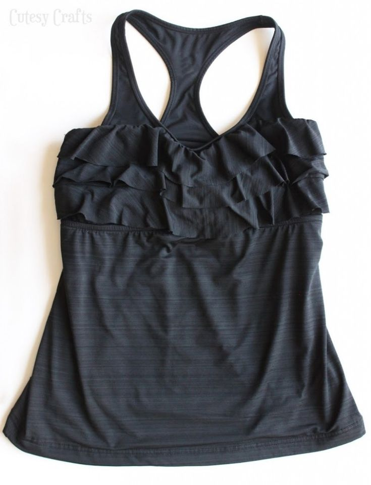 Sewing a supportive sports bra into a tankini top for a swimsuit that keeps you covered.