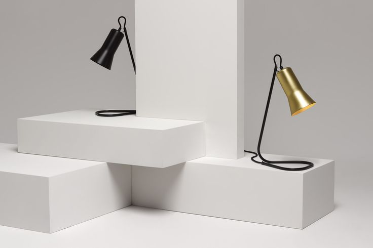 Ross Gardam | Silhouette Lamps in black anodised, solid brass