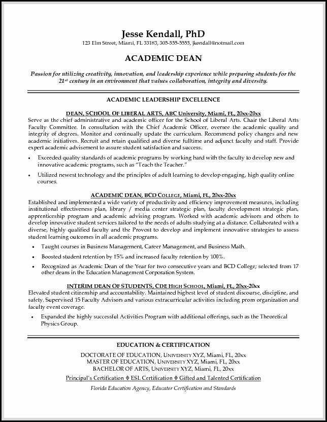 sample cover letter dean of students