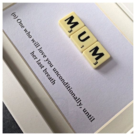 Scrabble Frame Definition of a Mum Mothers Day by MySilverPenguin