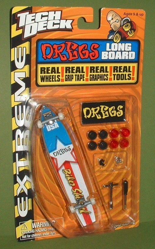 2000 Rare Old School Tech Deck Extreme Dregs Fingerboard