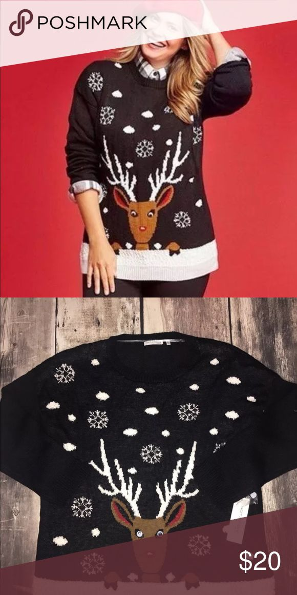Woman's plus size Christmas sweater Notations women's plus size 2x Christmas sweater. Brand new.  81% acrylic 19% polyester. Notations Sweaters Crew & Scoop Necks