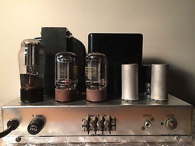 Rare-Fisher-70-A-70A-Push-Pull-Tube-Power-Amplifier-with-Upgraded-Capacitors