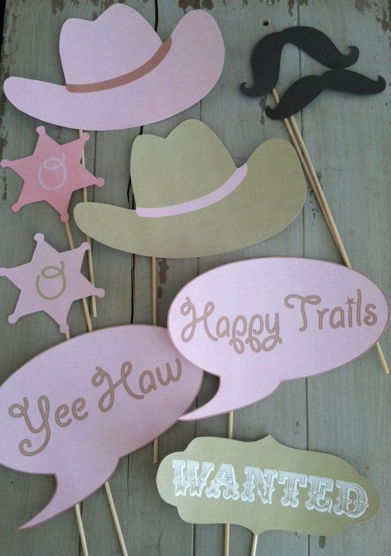Cowgirl or Cowboy Western Themed Photo Booth by EllaJaneCrafts