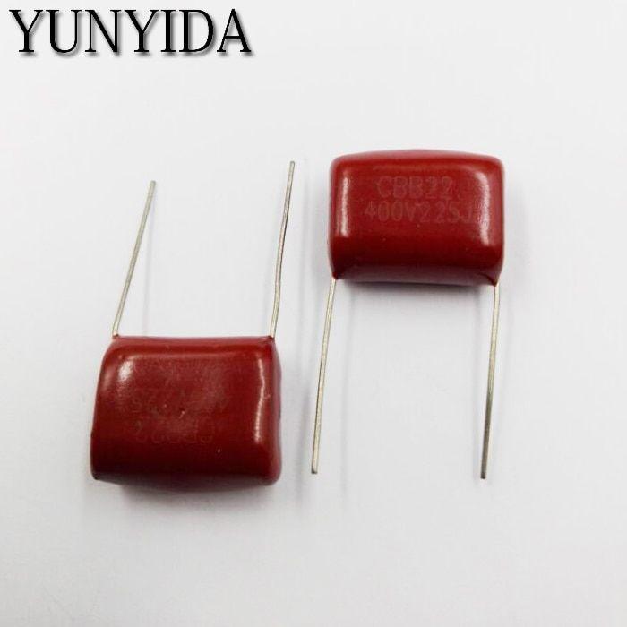 10pcs 400v 225j 2 2uf 400v 225 Cbb Capacitance 5 20mm Cbb Metallized Film Capacitor
