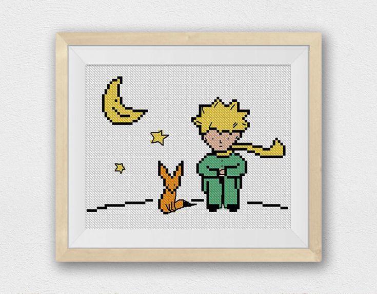 BOGO FREE! The Little Prince Cross Stitch Pattern, Needlecraft Le Petit Prince Embroidery Needlework PDF Instant Download #021-1 by StitchLine on Etsy https://www.etsy.com/listing/241950129/bogo-free-the-little-prince-cross-stitch