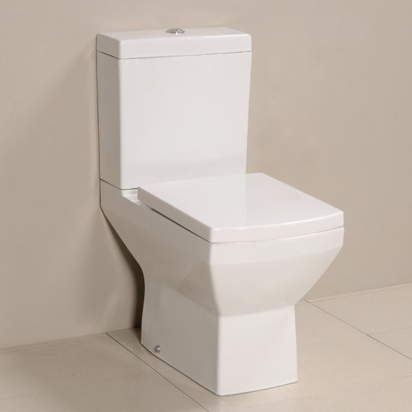 Tabor Toilet and Seat, priced at £119.95. The Tabor close coupled toilet is a stunning addition to any modern bathroom. It has a unique squared design and has a variety of matching basins and pedestals. Made from high quality ceramic and complete with a soft close seat. Order now at - http://www.betterbathrooms.com/toilets/tabor-toilet-and-seat/