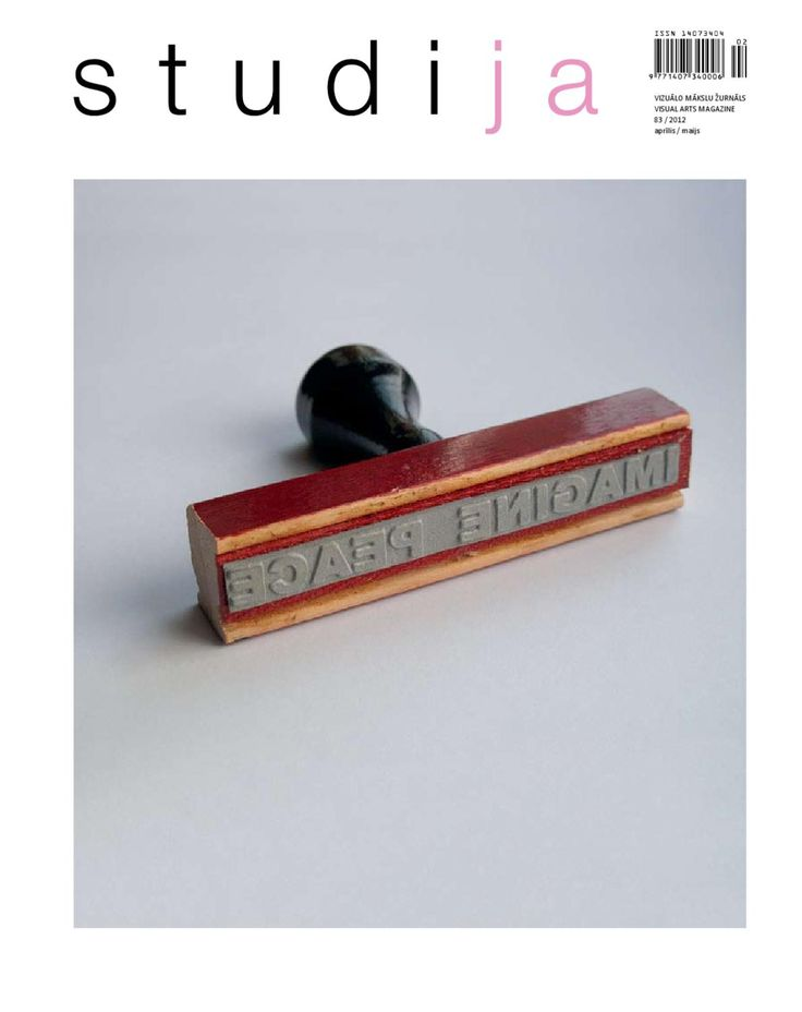 visual arts magazine Studija, issue April/May, 2012