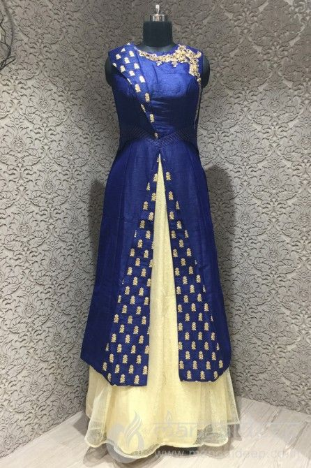 http://www.mangaldeep.co.in/lehengas/indo-western-lehengas/silk-blue-and-cream-readymade-designer-indowestern-suit-8407 For more information :- Call us @ +919377222211 (Whatsapp Available) (y) :)