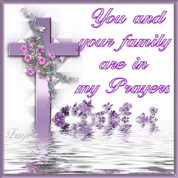Purple Glitter Graphics | Animated GIFs » Religious » In my Prayers - Purple Cross R...