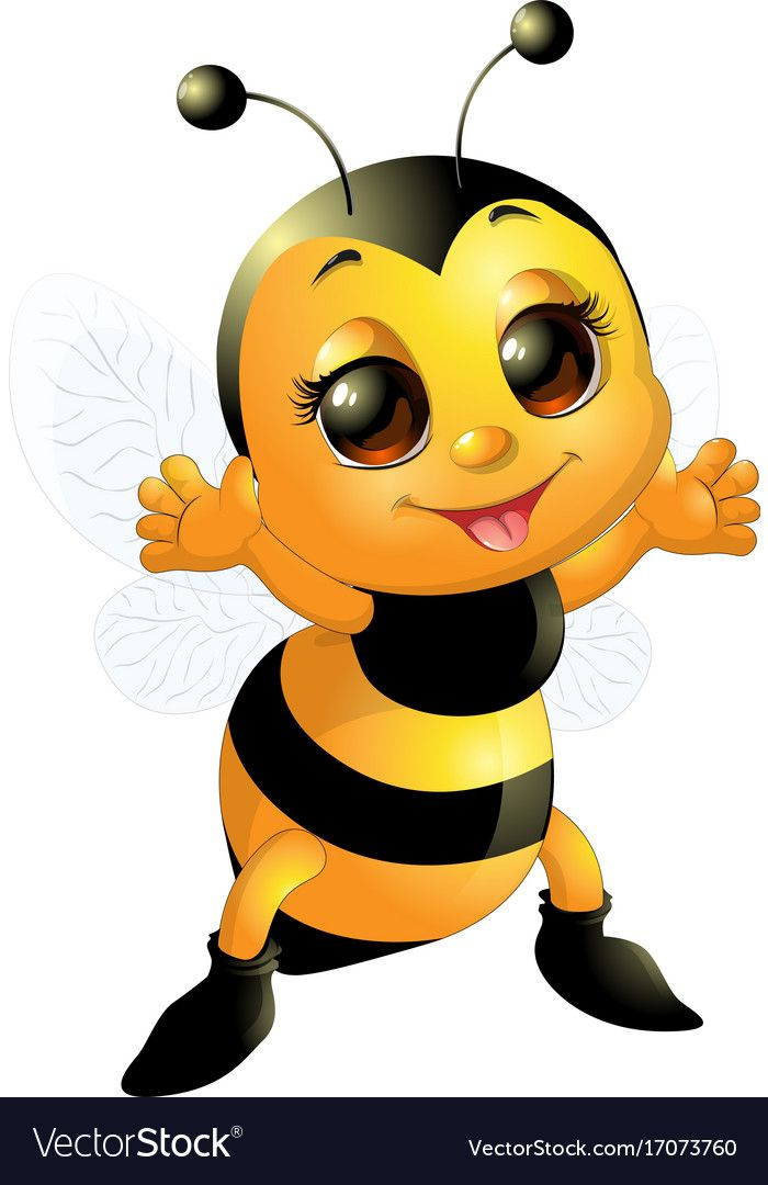 Pin by Natali Antohi on Bee | Cute bee, Bee illustration, Bee drawing