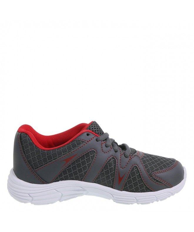 Boys Pierce Runner Grey Red Cm18eq5n29y Girls Running Shoes Girls Shoes Online Boys Running Shoes