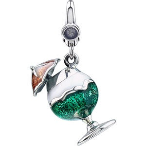 A Cocktail you can have anytime! Enamel and Sterling Silver with Lobster clasp. $39.99