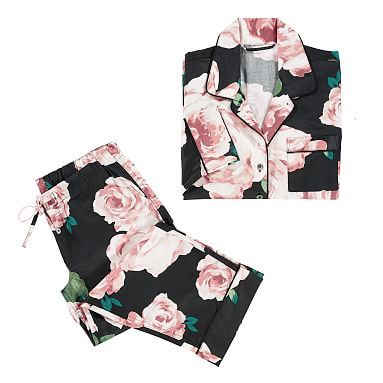 The Emily & Meritt Bed Of Roses Pajama Set, Large, Bed Of Roses