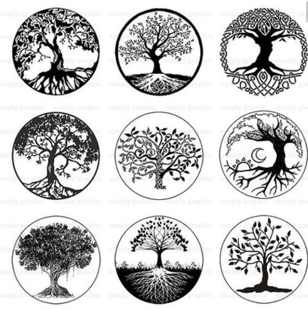 Mandalas Con árboles De La Vida Diseños Y Tatuajes Tatuaje Del árbol De La Vida Tatuaje árbol De La Vida Tatuaje De Raíces