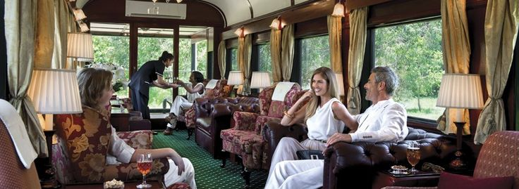 Guests in Rovos Rail observation car