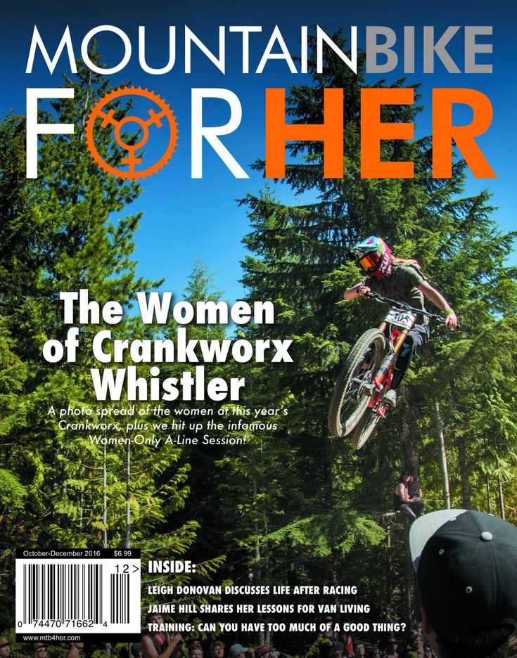 Mountain Bike for Her Magazine Issue 12 -- Currently in production, it ships at the end of September. Includes a special feature on the Women of Crankworx! And Dr Robyn Prescott, ND joins us for a new regular column where she focuses on injury prevention!