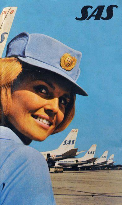 Scandinavian Airlines - SAS 1974    www.facebook.com/VintageAirliners  www.vintageairliners.com