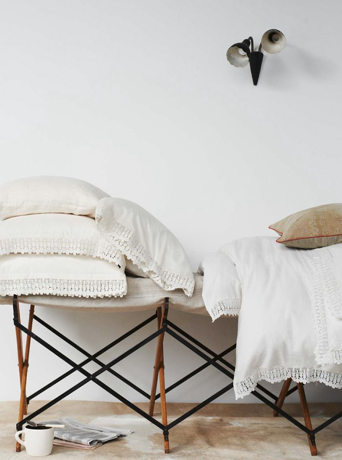 WASHED LACE BEDLINEN by toast via hihiblog