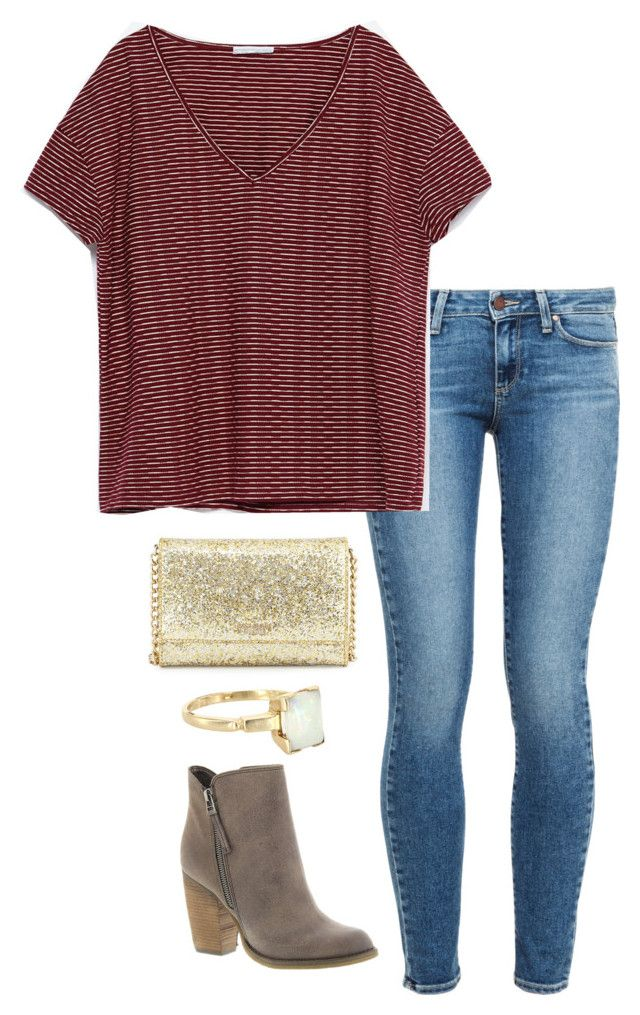 """""""ootd"""" by helenhudson1 ❤ liked on Polyvore featuring Paige Denim, Zara, Kate Spade, Vintage and Sbicca"""