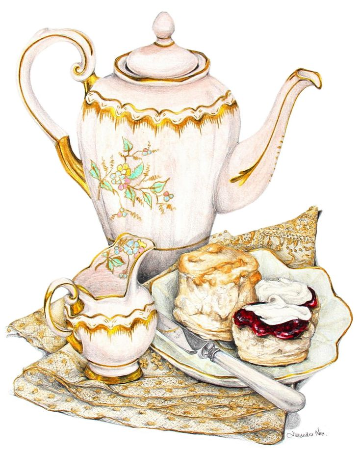 чаепитие картинка рисунок должна