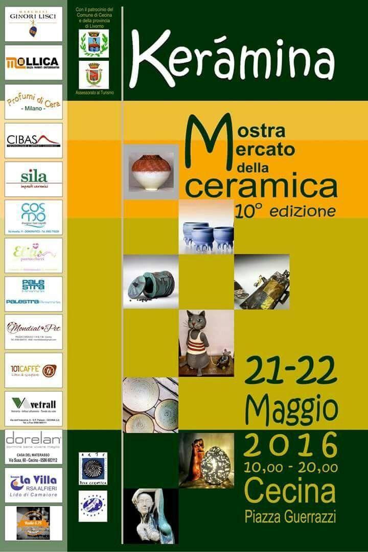 Mostra mercato della ceramica d'autore. Cecina Maggio 2016 Mariagioia Maffucci eventi