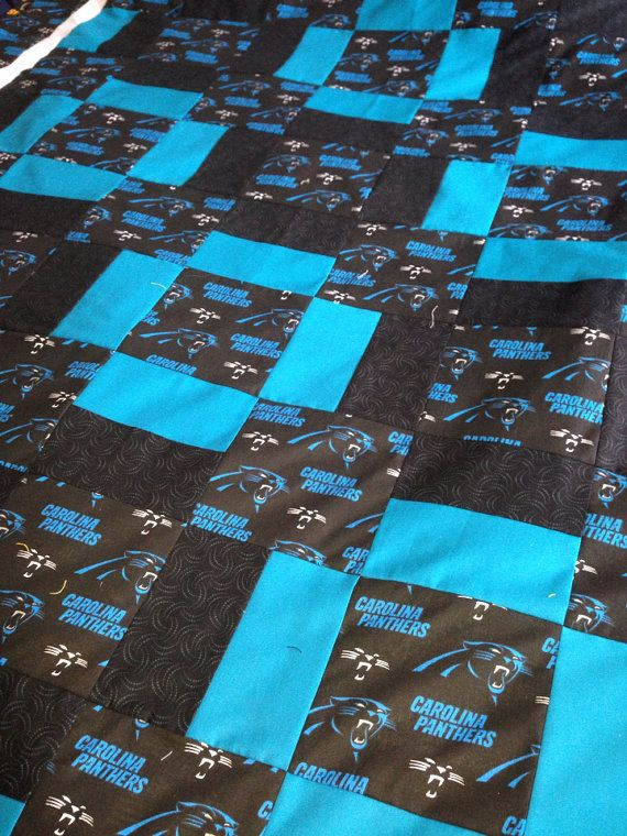 Carolina Panthers Quilt by RosehillQuilting on Etsy