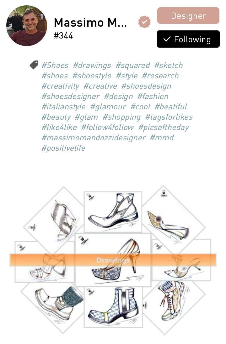 Massimo Mandozzi, a shoes designer based in Fermo, Italy.